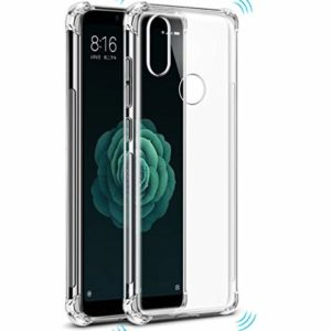 TARKAN Soft Transparent Shock Proof Corners Back Cover For MI A2