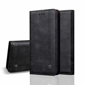 Tarkan Vintage Vegan Leather Back Stand Wallet Case with Card Slot for Real Me 2 Pro