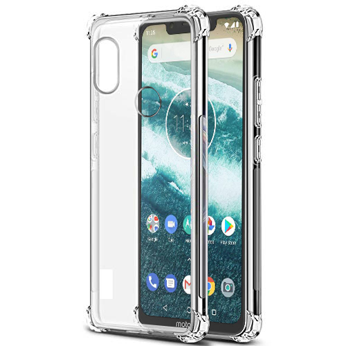 save off fb1f9 cb27a Tarkan Soft Transparent Back Cover for Moto One Power