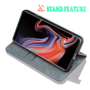 TARKAN Leather Back Stand Wallet Case For Samsung Galaxy Note 9