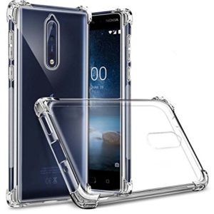 Tarkan Soft Transparent Back Case Cover For Nokia 8