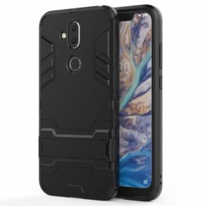Tarkan Armor Kickstand Back Cover for Nokia 8.1