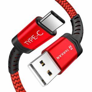 TARKAN USB Type-C Nylon Braided Cable 1. 5 Meter Long
