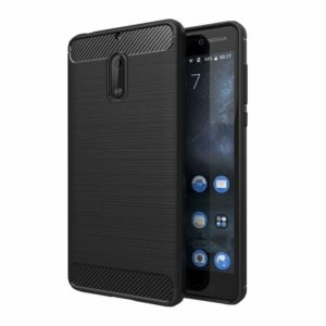 Tarkan Carbon brush Back Cover For Nokia 6