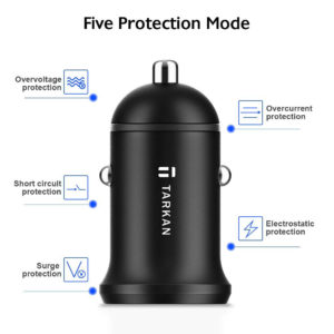 Tarkan 24W Dual Port 4.8A Car Charger