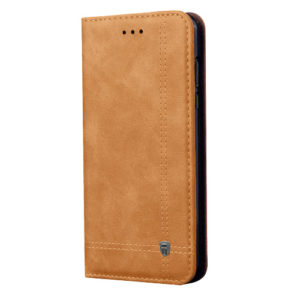 Tarkan Leather Wallet Back Cover For Honor 8X
