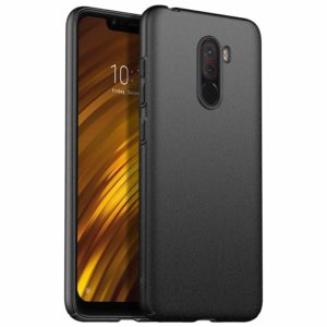 Tarkan Full 360 Coverage Sandstone Case – Matte Slim Hard PC Bumper Back Cover for Pocophone F1