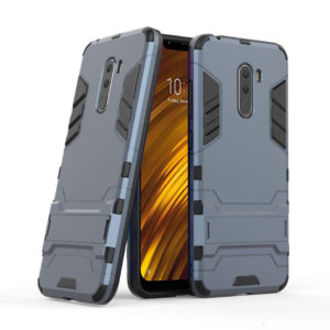 TARKAN Heavy Duty Shockproof Armor Kickstand Back Case Cover for Poco F1