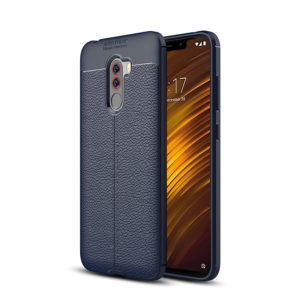 TARKAN Rubberized Back Cover Shock Proof HQ Leather Textured for Xiaomi Poco F1