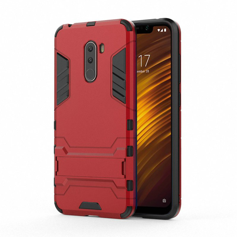 separation shoes bd303 f376a TARKAN Heavy Duty Shockproof Armor Kickstand Back Case Cover for Poco F1