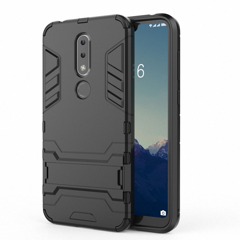 first rate 42901 bdd08 Tarkan Armor Kickstand Back Case Cover for Nokia 6.1 Plus