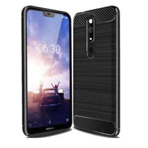 Tarkan Carbon Brush Back Cover for Nokia 6.1 Plus