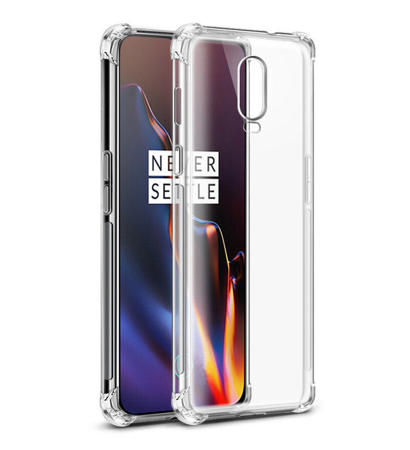 the best attitude 49709 ef9cc Tarkan Shock Proof Soft Transparent Back Cover For OnePlus 6T