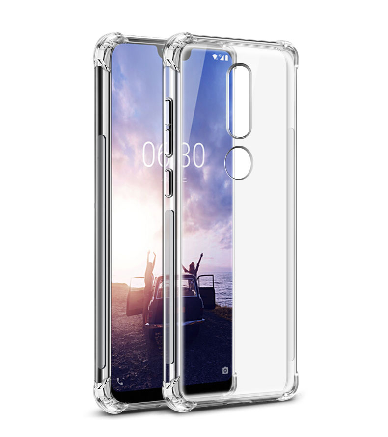 online store 81032 9f099 Tarkan Soft Transparent Back Cover For Nokia 6.1 Plus