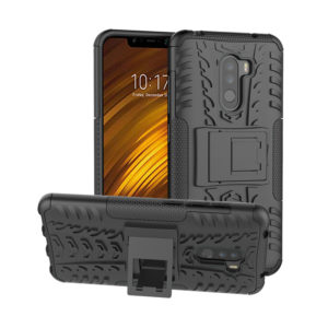 Tarkan Armour Case – Hybrid Rugged Bumper Kick Stand Hard Back Cover For Poco F1