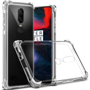 Tarkan Shock Proof Soft Transparent Back Cover For OnePlus 6
