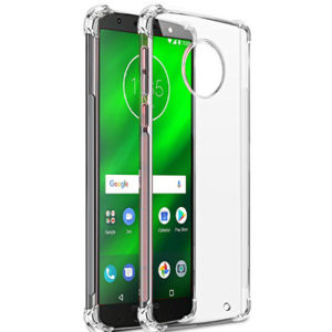 Tarkan ShockProof Soft Transparent Back Cover For Moto G6 Plus