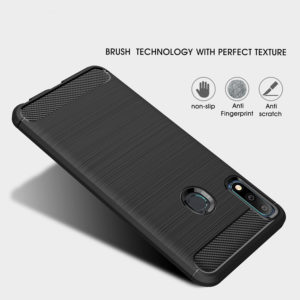 Tarkan Carbon Brush Soft Back Cover for Asus Zenfone Max Pro M2