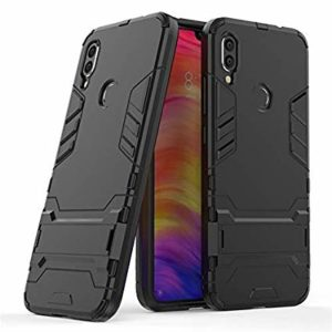 Tarkan Heavy Duty Shockproof Armour Stand Back Case Cover for Redmi 7 (Black)