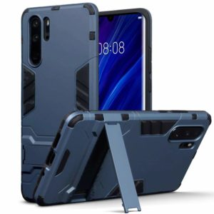 Tarkan Heavy Duty Shockproof Armour Stand Back Case Cover for Huawei P30 Pro (Blue)