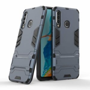 Tarkan Heavy Duty Shockproof Armour Stand Back Case Cover for Huawei P30 Lite (Blue)