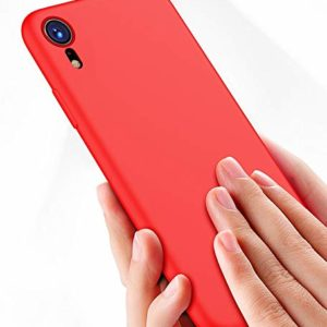 Tarkan Royal Ultra Slim Flexible Soft Back Case Cover 360 Degree Coverage for Apple iPhone XR (Red)