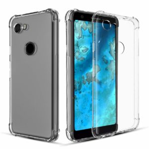Tarkan Shock Proof Bumper Soft TPU Back Case Cover for Google Pixel 3A (Transparent)