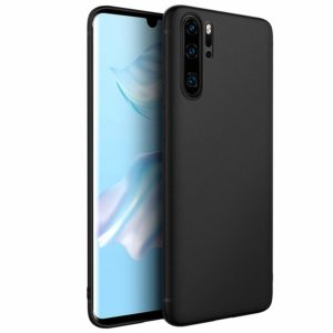 Tarkan Royal Ultra Slim Flexible Soft Back Case Cover 360 Degree Coverage for Huawei P30 Pro (Black)