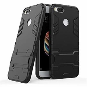 TARKAN Heavy Duty Shockproof Kickstand Back Case Cover for Xiaomi Mi A1 (Android One) [Black]