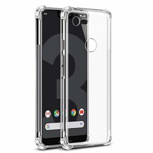 Tarkan Shock Proof Bumper Soft TPU Back Case Cover for Google Pixel 3A XL (Transparent)
