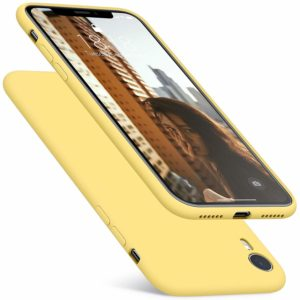 Tarkan Royal Ultra Slim Flexible Soft Back Case Cover 360 Degree Coverage for Apple iPhone XR (Yellow)