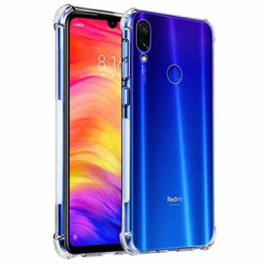 Tarkan Shock Proof Protective Soft Transparent Back Case Cover for Redmi 7 [Bumper Corners with Air Cushion Technology] Crystal Clear