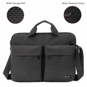 Tarkan Buffer Shock Absorption Office Shoulder Laptop Briefcase Bag for Men (15-15.6 Inch)