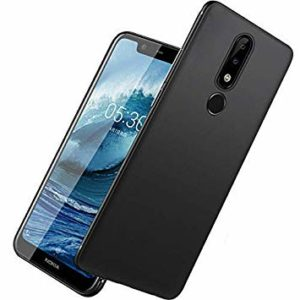 Tarkan Royal Ultra Slim Flexible Soft Back Case Cover 360 Degree Full Coverage with Camera Protection for Nokia 5.1 Plus/Nokia 5 Plus [Matte Black]