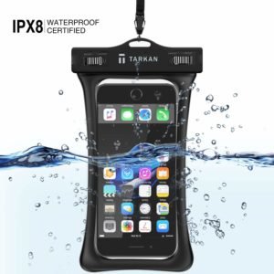 Tarkan Floating Air Bag Underwater Waterproof Mobile Protection Pouch for iPhone XXs MaxXr8 Plus8 Galaxy s10s9s8 Note 9 OnePlus 3T56T77 Pro Upto 6.5 Inch (Black)