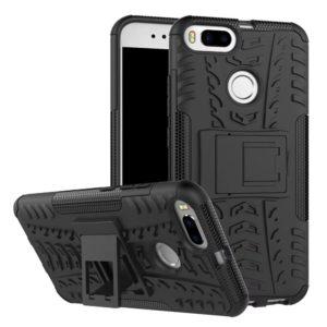 TARKAN Armour Hybrid Rugged Protective Stand Hard Back Case Cover for Xiaomi Mi A1 (Black)