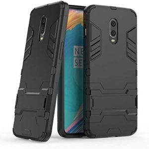 TARKAN Heavy Duty Shockproof Armor Kickstand Back Case Cover for OnePlus 7 (Black)