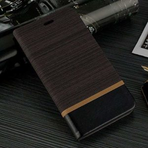 Tarkan Luxury Leather Textured Back Stand Flip Case Cover with Card Slot for OnePlus 5 [Brown]