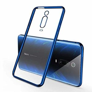 Tarkan Luxurious Transparent Soft Back Case Cover for Redmi K20/ Redmi K20 Pro (Electric Blue)