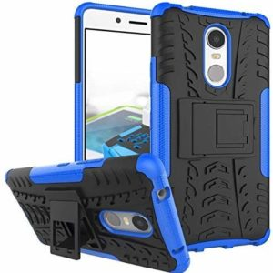 TARKAN Armor Hybrid Rubberized Bumper Kick Stand Back Cover for Lenovo K6 Note [Blue]