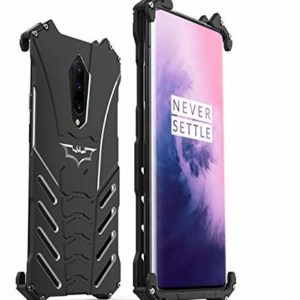 Tarkan Shockproof Metal Armor Hard Back Bumper Case Cover for OnePlus 7 Pro (Black)