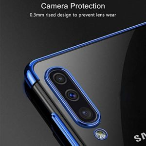 Tarkan Transparent Soft Back Case Cover for Samsung Galaxy M30s – Luxuriously Electroplated (Electric Blue)
