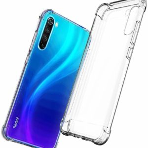 Tarkan Shock Proof Protective Soft Back Case Cover for Redmi Note 8 (Transparent) [Bumper Corners with Air Cushion Technology]