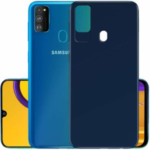 Tarkan Royal Ultra Slim Flexible Soft Back Case Cover for Samsung Galaxy M30s (Blue) 360 Degree Coverage
