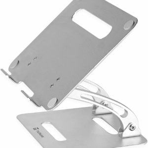 Tarkan Folding Laptop Stand, Adjustable Height & Angle with Heat Ventilation for 11 to 15.6 Inch (Silver)