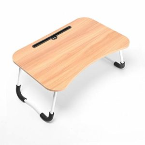 Tarkan Stud Foldable Wooden Mini Desk for Couch, Sofa Bed, Study Tray Table Stand for Writing (Beige)