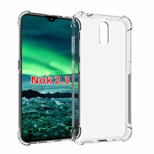 Tarkan Shock Proof Protective Soft Back Case Cover for Nokia 2.3 (Transparent) [Bumper Corners with Air Cushion Technology]