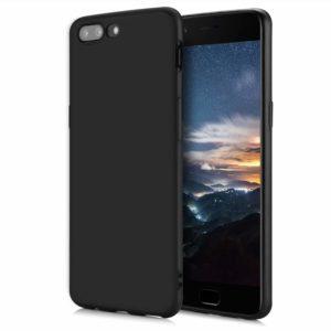 Tarkan Royal Slim Flexible Soft Back Case Cover For OnePlus 5 [Matte Black] 360 Degree Coverage