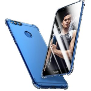 Tarkan Shock Proof Protective Soft Back Case Cover (Bumper Corners with Air Cushion Technology) for Honor 7X (Transparent)