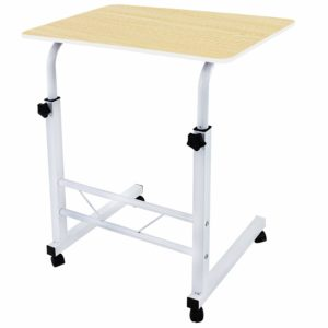 Tarkan Classico Bedside Portable Table Cart Tray with Adjustable Height, Studying Overbed Breakfast Sofa Table